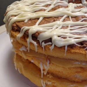 layered pumpkin cream cake