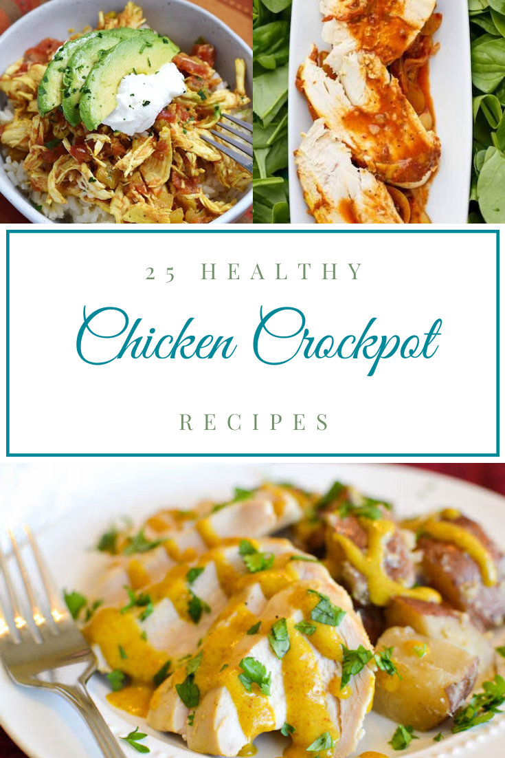 If you're anything like me you don't have a lot of time to devote to meal prep. The crockpot is my best friend and I love to pull it out and use it whenever possible. And that is why I've scoured the web to bring you these healthy chicken crockpot recipes. Whether you're eating healthier for weight loss or simply wanting to better your health, you've come to the right place. Choose from Mexican, Chinese and much more. You're going to love these quick dinners that are also perfect for the kids too.