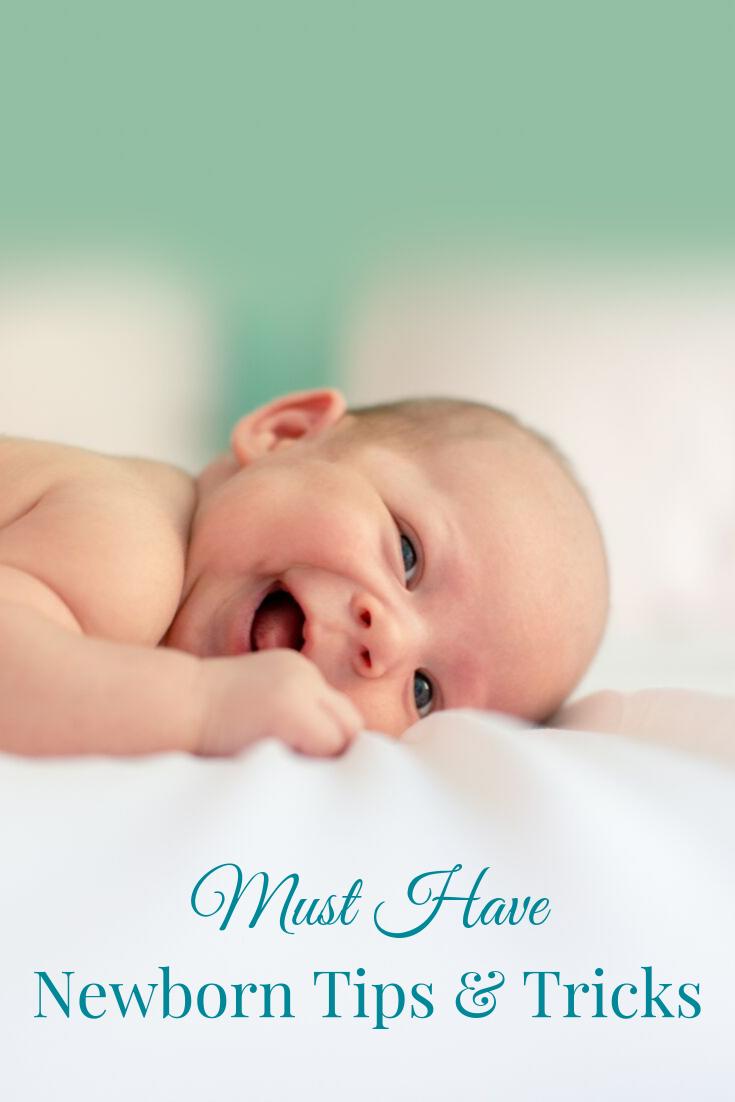 smiling newborn