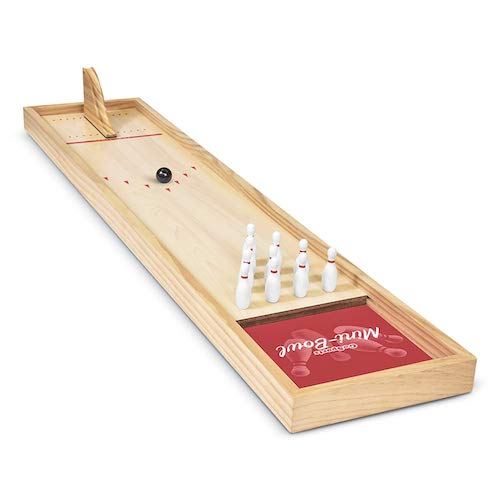 mini tabletop bowling game set