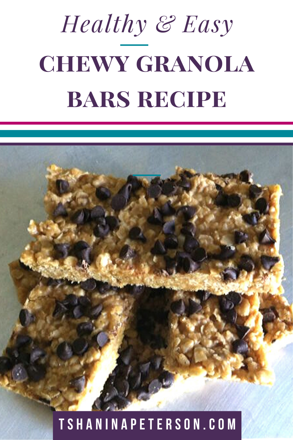Are you looking for a healthy chewy granola bars recipe that your kids will love? These are simply the best (even better than store bought in my opinion) and my husband loves the crispy crunch from the cereal. Grab your oatmeal (either quick oats or old fashioned will work), honey, coconut oil, peanut butter, rice krispies and chocolate chips and let me show you how to make this super easy no bake recipe!