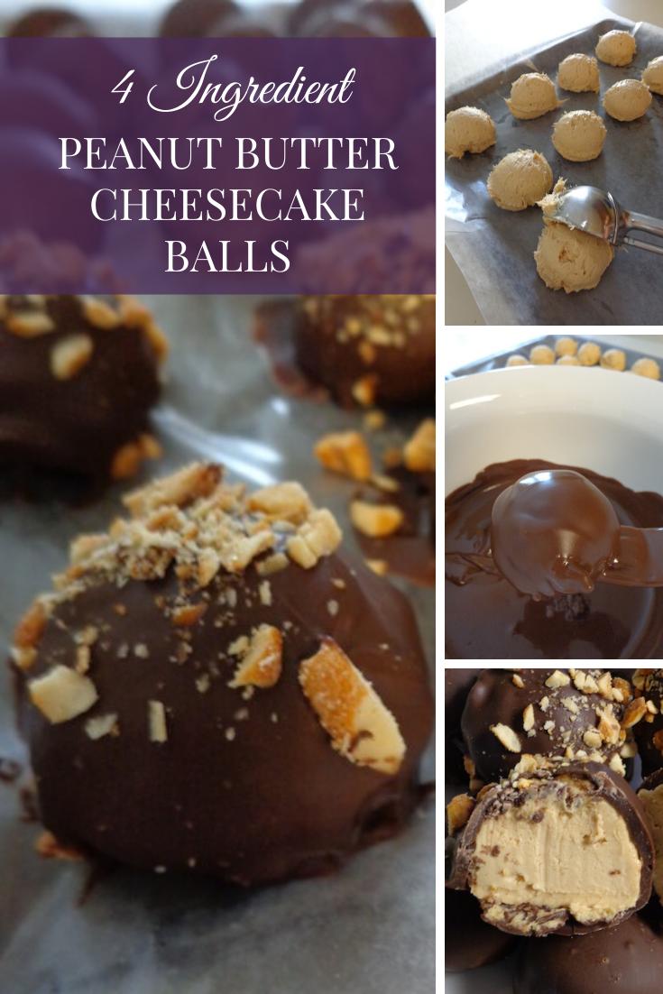 peanut butter cheesecake balls
