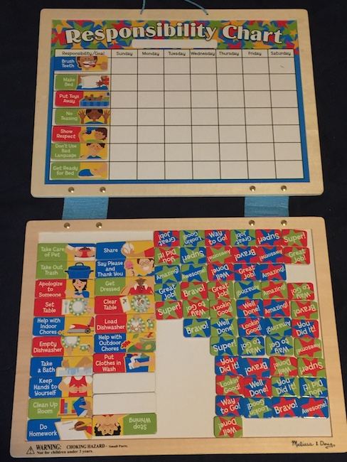 melissa and doug behavior responsibililty chart