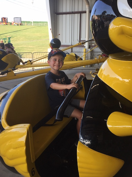 dalton on bee ride