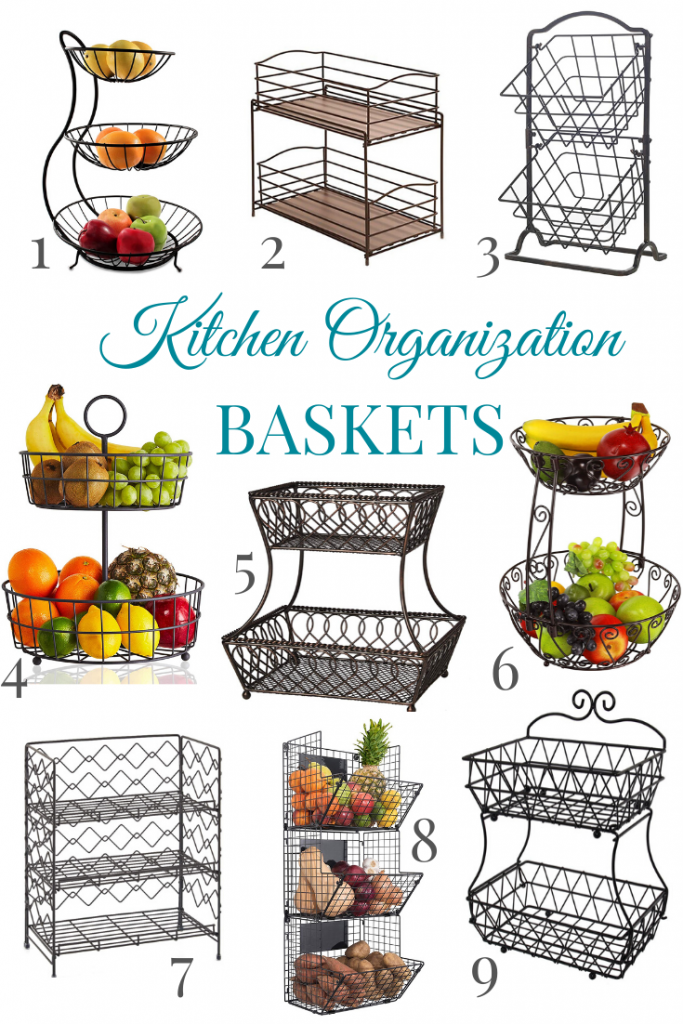 baskets to organize countertops