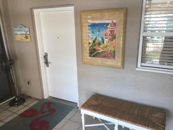 entryway to condo