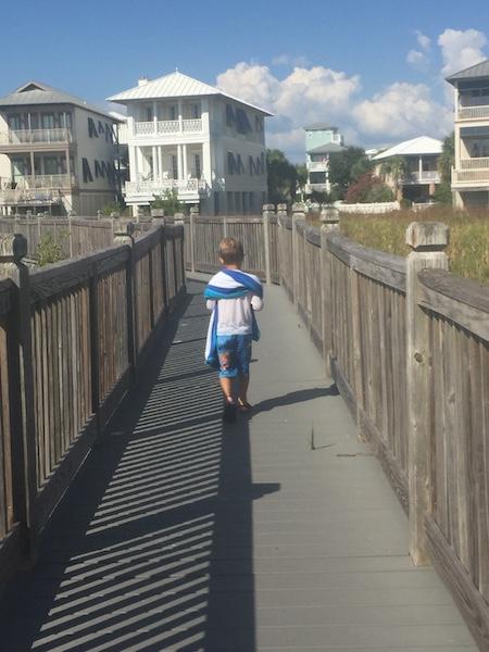 magnolia house boardwalk to the beach