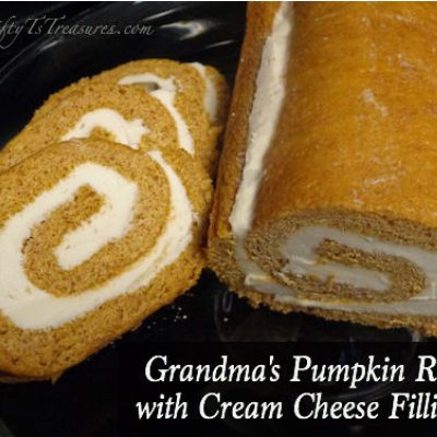 slices of pumpkin roll