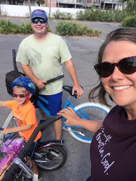 trent, tshanina and dalton on bikes