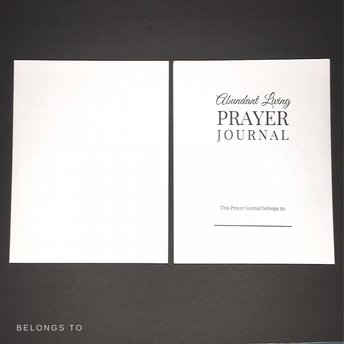 abundant living prayer journal belongs to