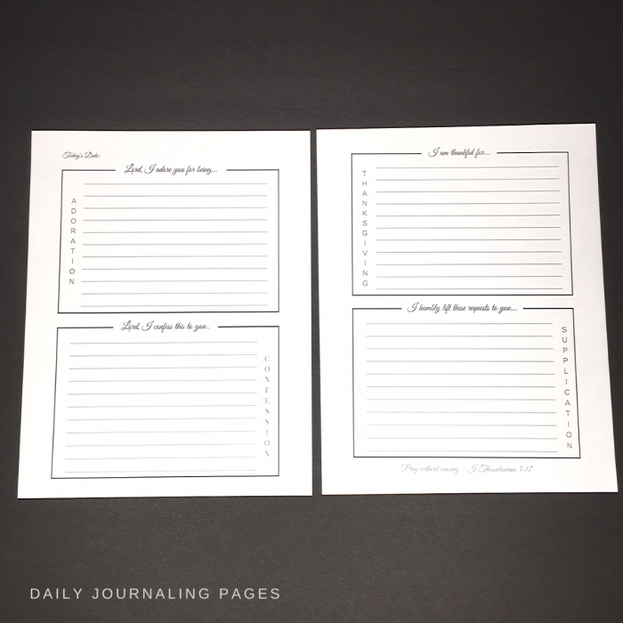 abundant living prayer journal daily journal pages