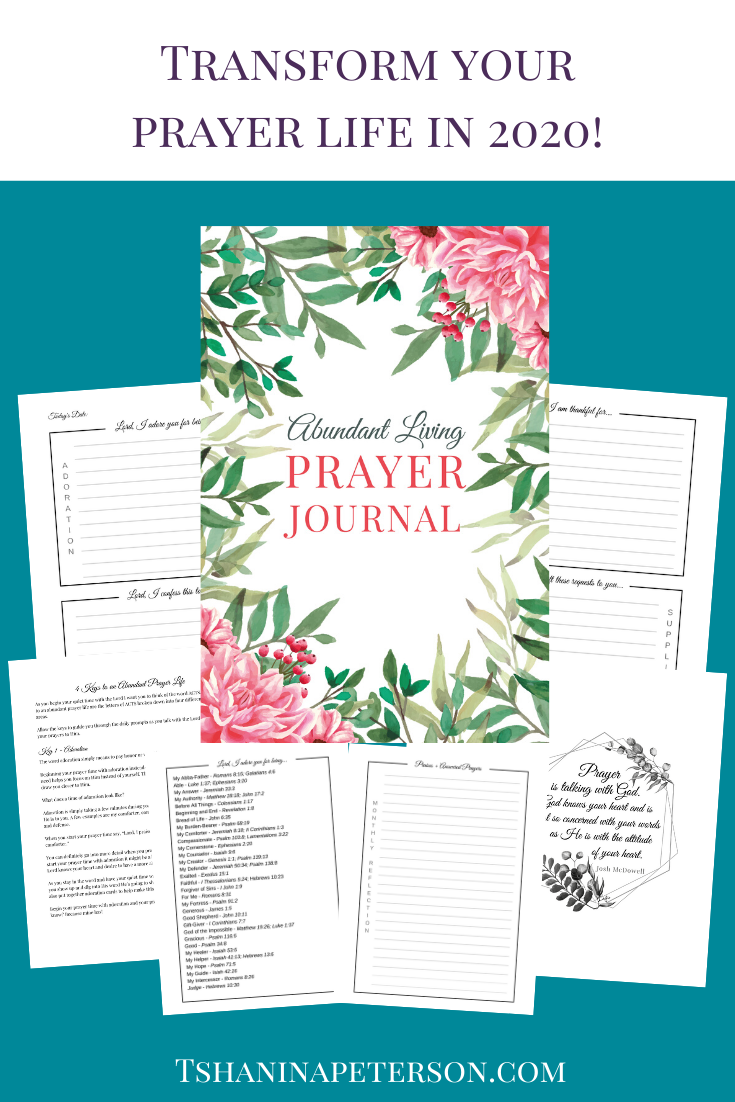 The Abundant Living Prayer Journal is a beautiful tool to help busy women in all seasons of life grow in their walk with the Lord. Its undated pages allow you to start journaling at any point. Included are the 4 keys to an abundant prayer life which will guide you through the daily prompts as you begin your prayer time each day. This three month journal has two journaling pages per day (and 3 monthly reflection pages for praises and answered prayer requests), and and also includes adoration cards.