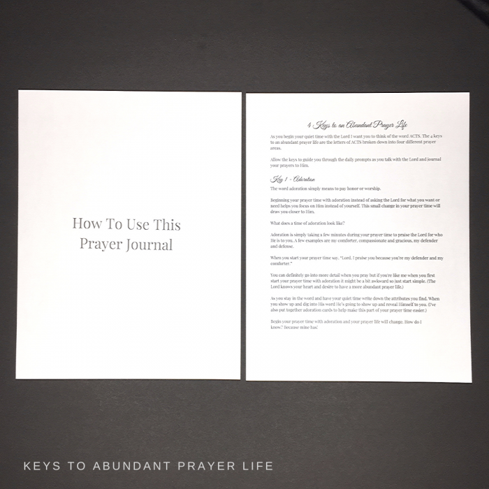 abundant livingprayer journal keys to abundant prayer life