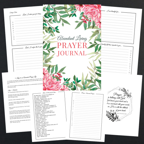 abundant living prayer journal printable version