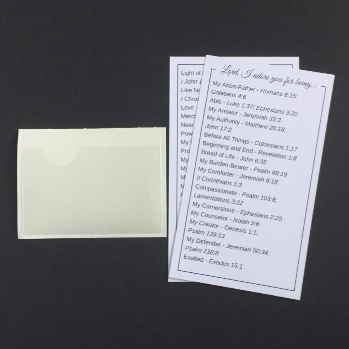 adoration cards and vinyl pocket