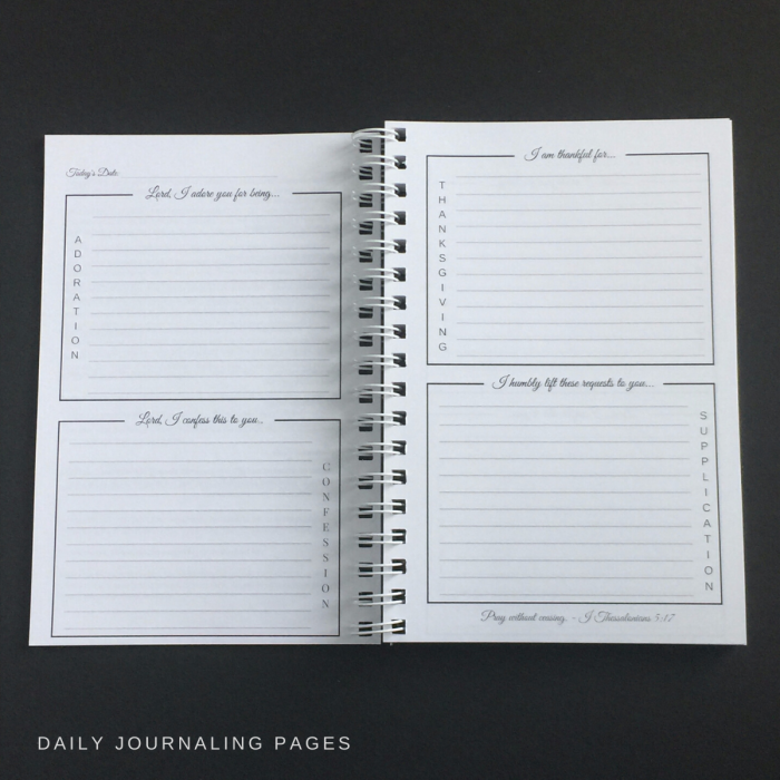 prayer journal daily pages