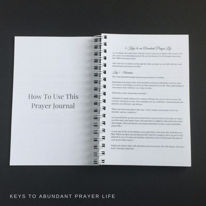 4 keys to an abundant prayer life
