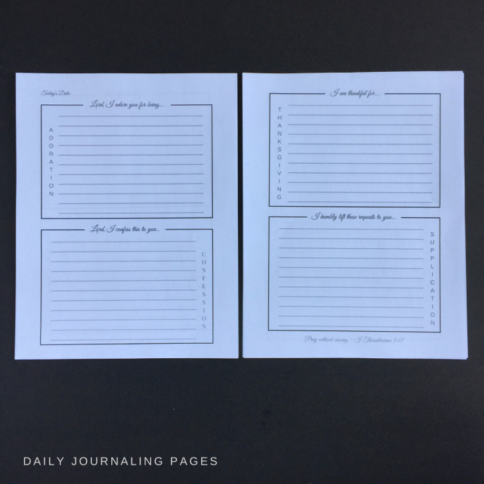 journaling pages