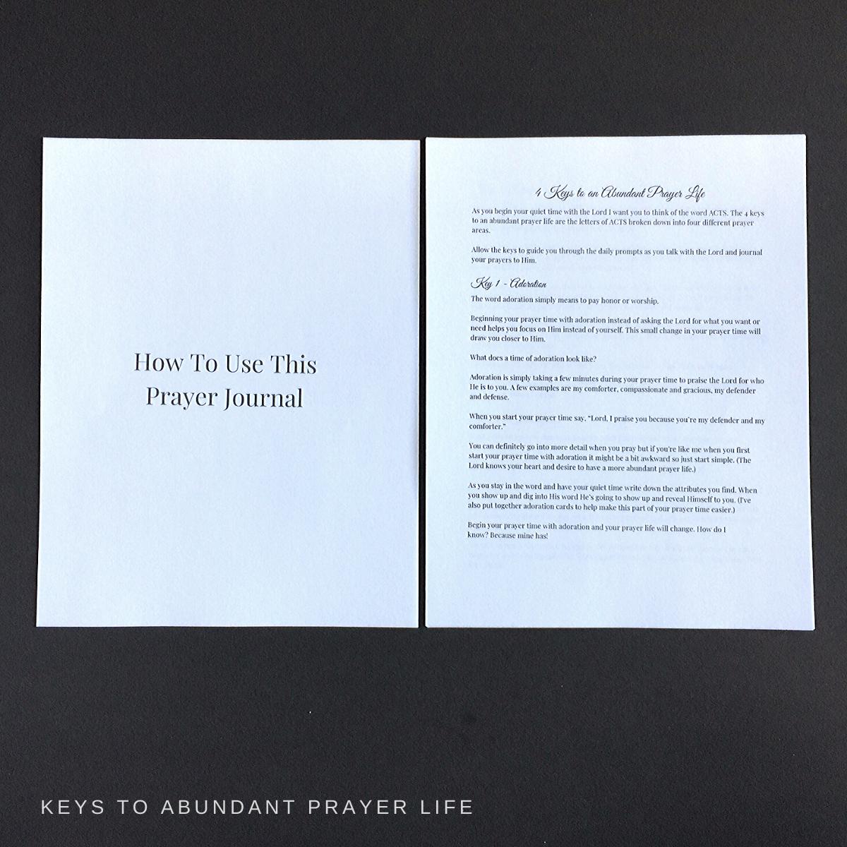 4 keys to an abundant prayer life