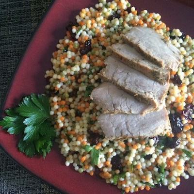 30-Minute-Meals-Roasted-Pork-Tenderloin-with-Cranberry-Lemon-Couscous