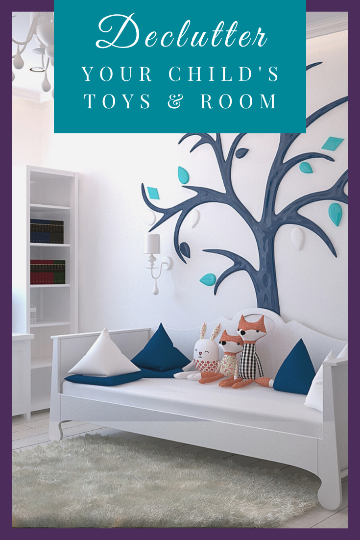 Learn how to declutter your child's toys and room without losing your sanity. These ideas are perfect whether you or your child are feeling overwhelmed at the decluttering process.