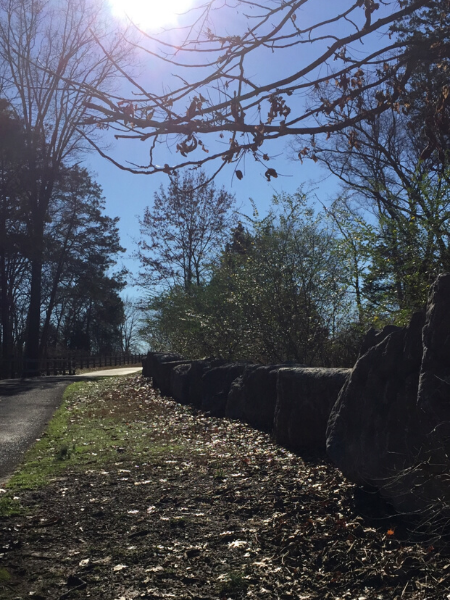 large rocks on sunny day