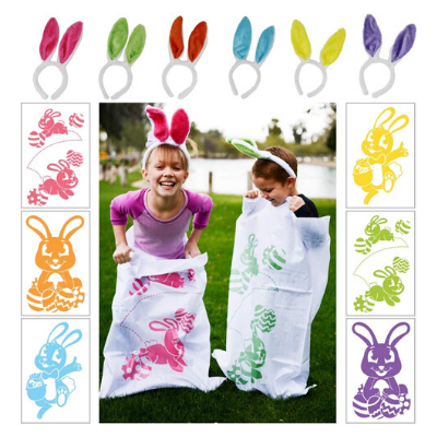 easter bunny potato sack race