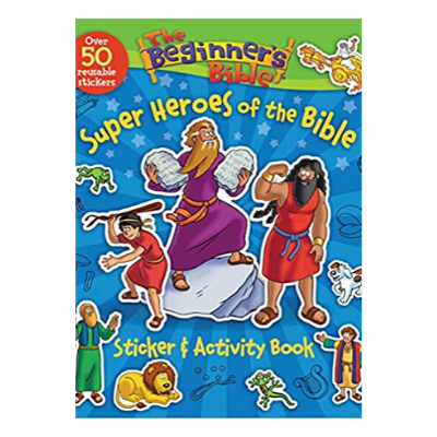 super heroes of the Bible sticker and activity book