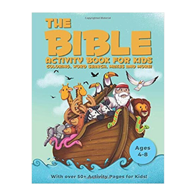 the Bible activity book for kids