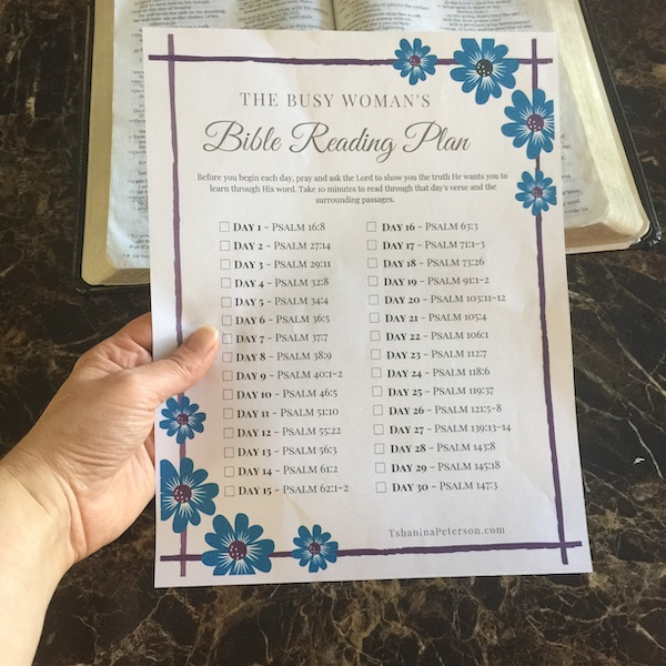 30 day bible reading plan