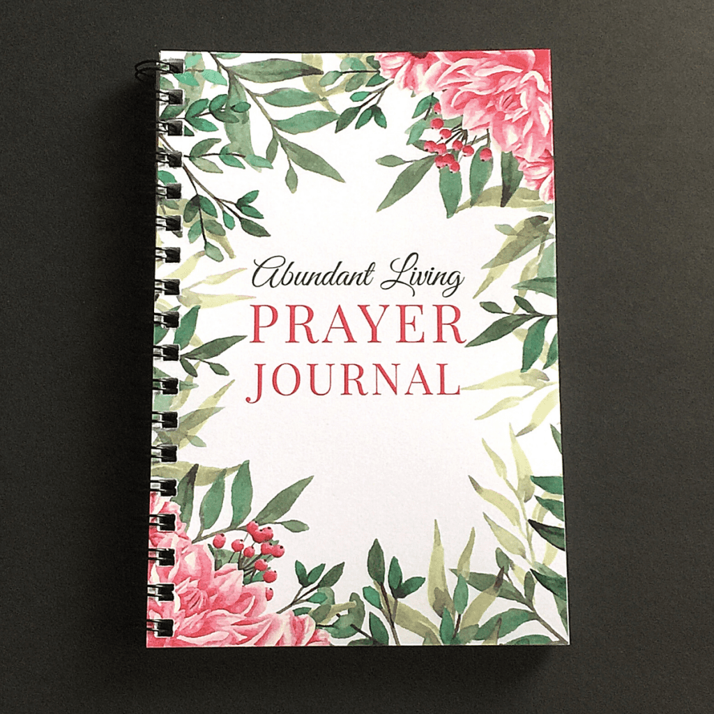prayer journal with flowers on cover