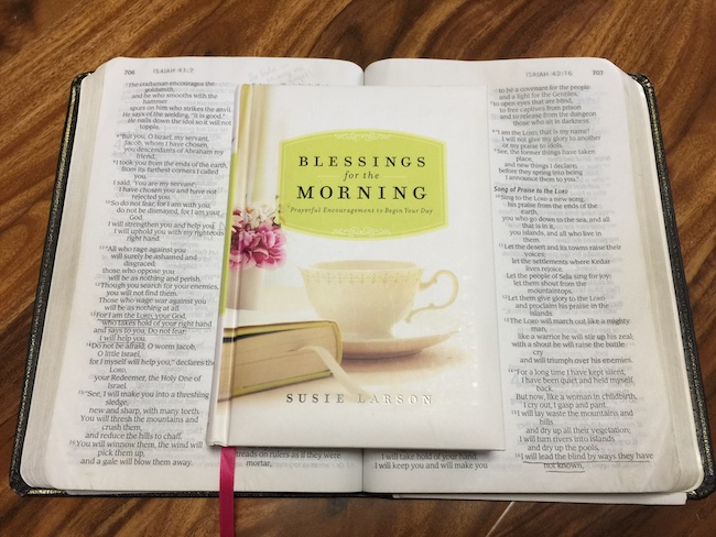 blessings for the morning devotional on top of bible