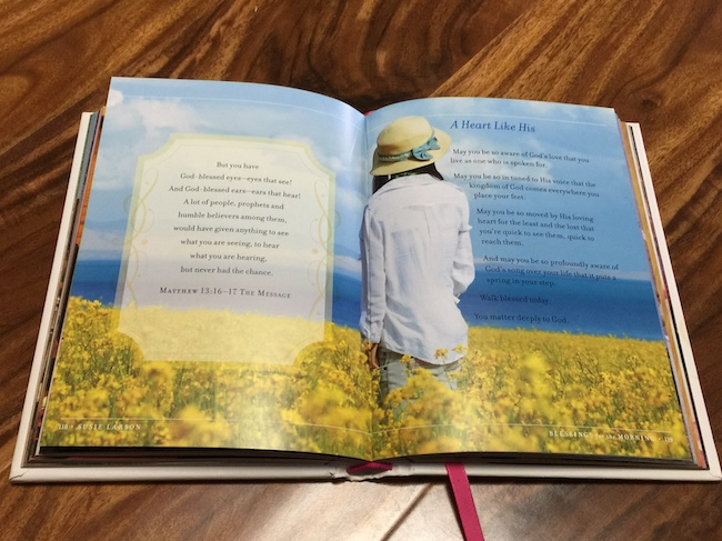 inside pages of blessings for the morning devotional