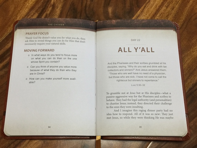 inside pages of the chosen devotion