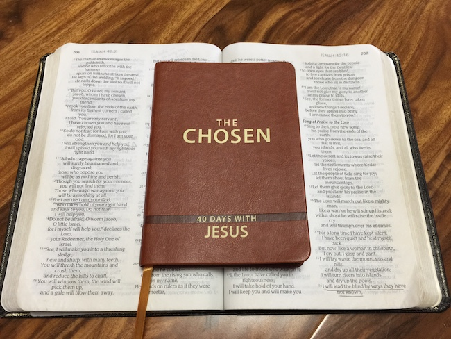 the chosen devotion on top of bible