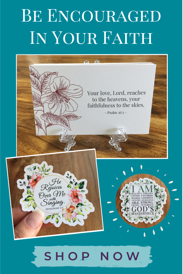 be encouraged in your faith with Tshanina Peterson's faith baed products