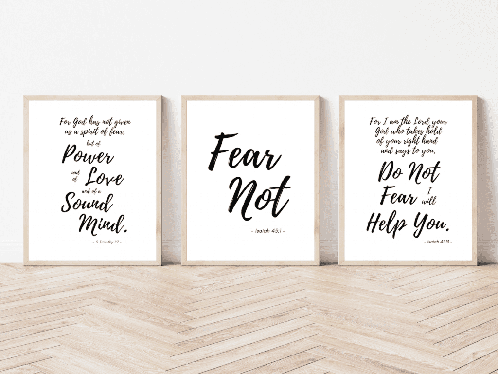 fear not bible verse printable wall art