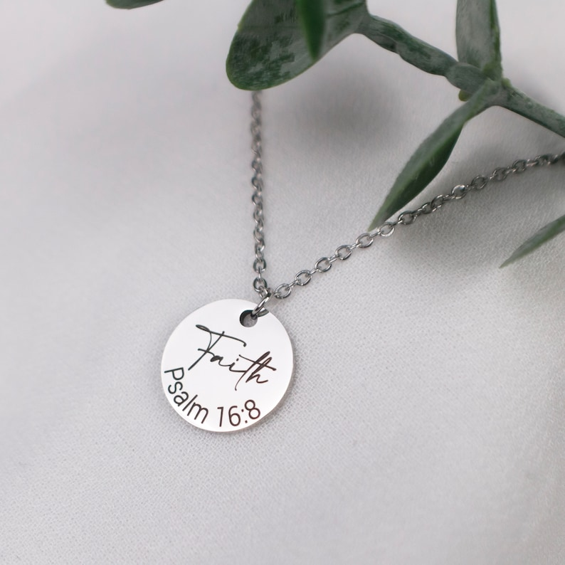 circle faith necklace