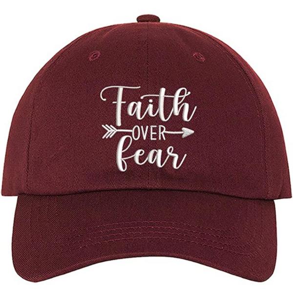 faith over fear ball cap