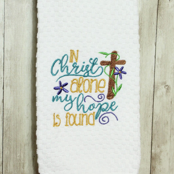 in christ alone my hope is found tea towel